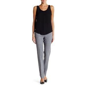 Plaid Narrow Pant In Grey